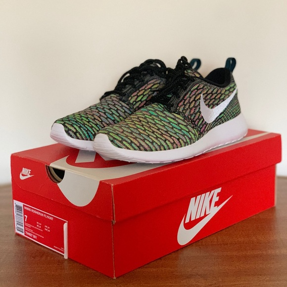 Nike Shoes | Womens Roshe Run Flyknit Multicolor | Poshmark